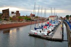 Sailing boats in historic marine Stock Photo