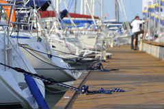 Sailing boats at lake Balaton. Yachts at lake Balaton in summer stock photography