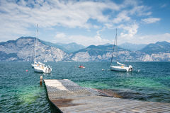 Sailing Boats at Lake Garda Royalty Free Stock Photo