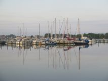 Sailing boats in late afternoon sun Stock Photography