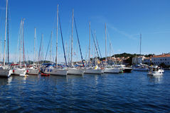 Sailing boats in Mali Losinj harbour,Croatia Royalty Free Stock Images
