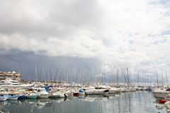 Sailing boats at marina Royalty Free Stock Photography