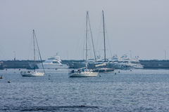 Sailing Boats Marina Punta del Este Uruguay Royalty Free Stock Photos