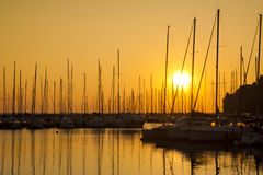 Sailing boats marine Stock Photo