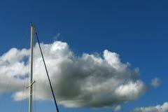 Sailing boats mast background stock image