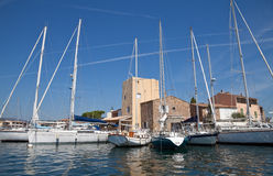 Sailing boats in Port-Grimaud Royalty Free Stock Photography