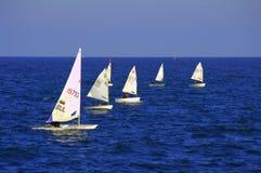 Sailing boats race Royalty Free Stock Photos