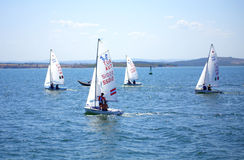 Sailing boats race Royalty Free Stock Images