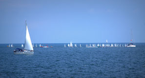 Sailing boats race Stock Images