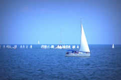 Sailing boats race Royalty Free Stock Photos