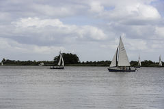 Sailing boats on the river Royalty Free Stock Images