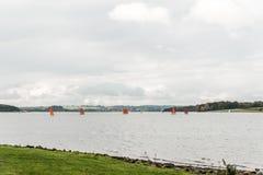 Sailing boats on Rutland water, England Royalty Free Stock Image