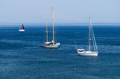 Sailing boats and sea Royalty Free Stock Photos