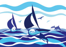 Sailing boats Royalty Free Stock Image