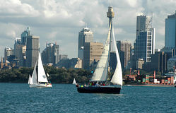 Sailing Boats In Sydney Harbour Royalty Free Stock Images
