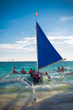 Sailing boats with tourists Stock Photos