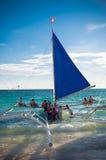 Sailing boats with tourists Stock Photos