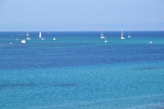 Sailing boats in tropical sea Royalty Free Stock Photography