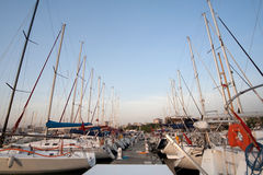 Sailing boats in turkish marine Royalty Free Stock Images