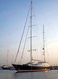 Sailing boats in turkish marine royalty free stock photo