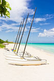 Sailing boats in Varadero Beach, Cuba Stock Photo