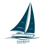 Sailing boats vector. Sailing boats silhouette icon vector.illustration Stock Photos