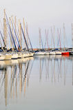 Sailing Boats. A view from Istanbul Marina Pendik Royalty Free Stock Photography