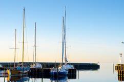 Sailing boats stock images