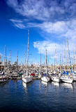 Sailing boats in yacht club at summer, Spaine Royalty Free Stock Photos