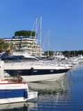 Sailing boats and yachts. (Costa Brava, Spain Stock Photography