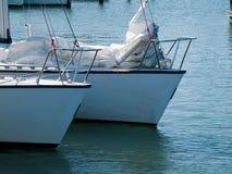 Sailing boats yachts ready to sail Royalty Free Stock Photography