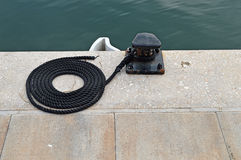 Sailing Bollard-Yacht Yachting Fixtures Fittings Stock Image