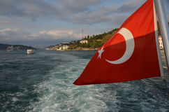 Sailing on the Bosphorus in Istanbul Royalty Free Stock Image