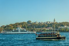 Sailing Bosphorus Stock Photo