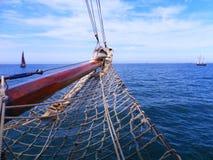 Sailing. Bow of a traditional sailing ship Stock Photos