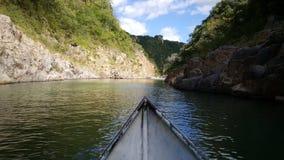 Sailing through the Cañón de Somoto. In Nicaragua royalty free stock photos