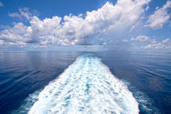 Sailing calm seas, Indian Ocean. Royalty Free Stock Image
