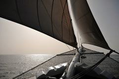 Sailing on calm waters Stock Photography