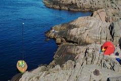 Sailing and Camping Stock Photo