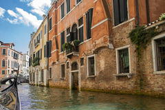 Sailing on the canals of Venice Royalty Free Stock Photography