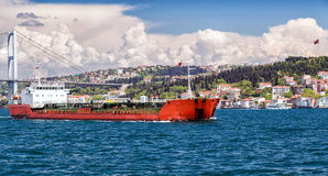 Sailing cargo vessel Royalty Free Stock Photos