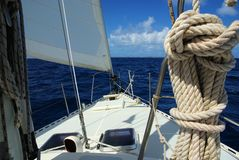 Sailing, Caribbean Royalty Free Stock Photography
