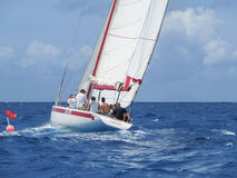 Sailing in the Caribbean Royalty Free Stock Images
