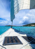 Sailing in the Caribbean Stock Image
