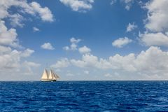 Sailing in the Caribbean royalty free stock photos