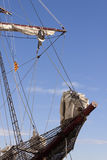 Sailing catalonian vessel bowsprit Royalty Free Stock Photography