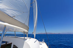 Sailing catamaran Stock Image