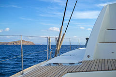 Sailing catamaran Royalty Free Stock Images