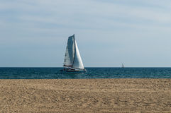 Sailing catamaran Stock Image