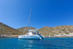 Sailing catamaran Stock Photo
